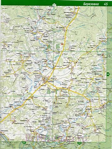 Карта Большесосновского Района Пермского Края