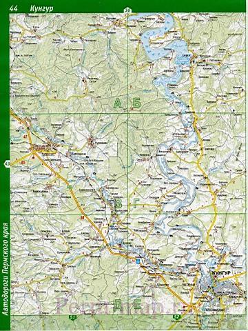 Карта Куединского Района Пермский Край