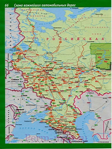 Карта схема важнейших